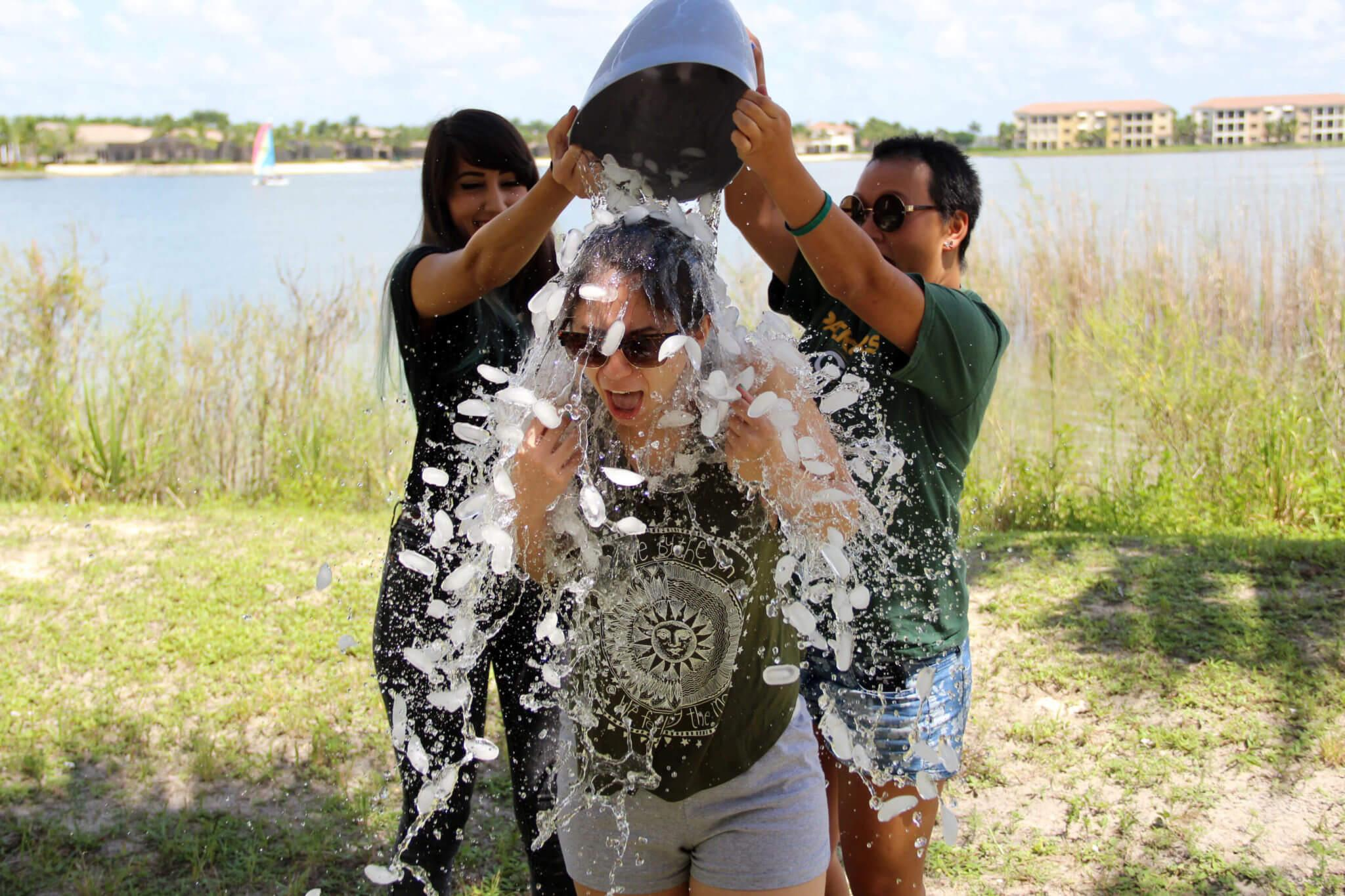 ALS challenge cools off students, administration