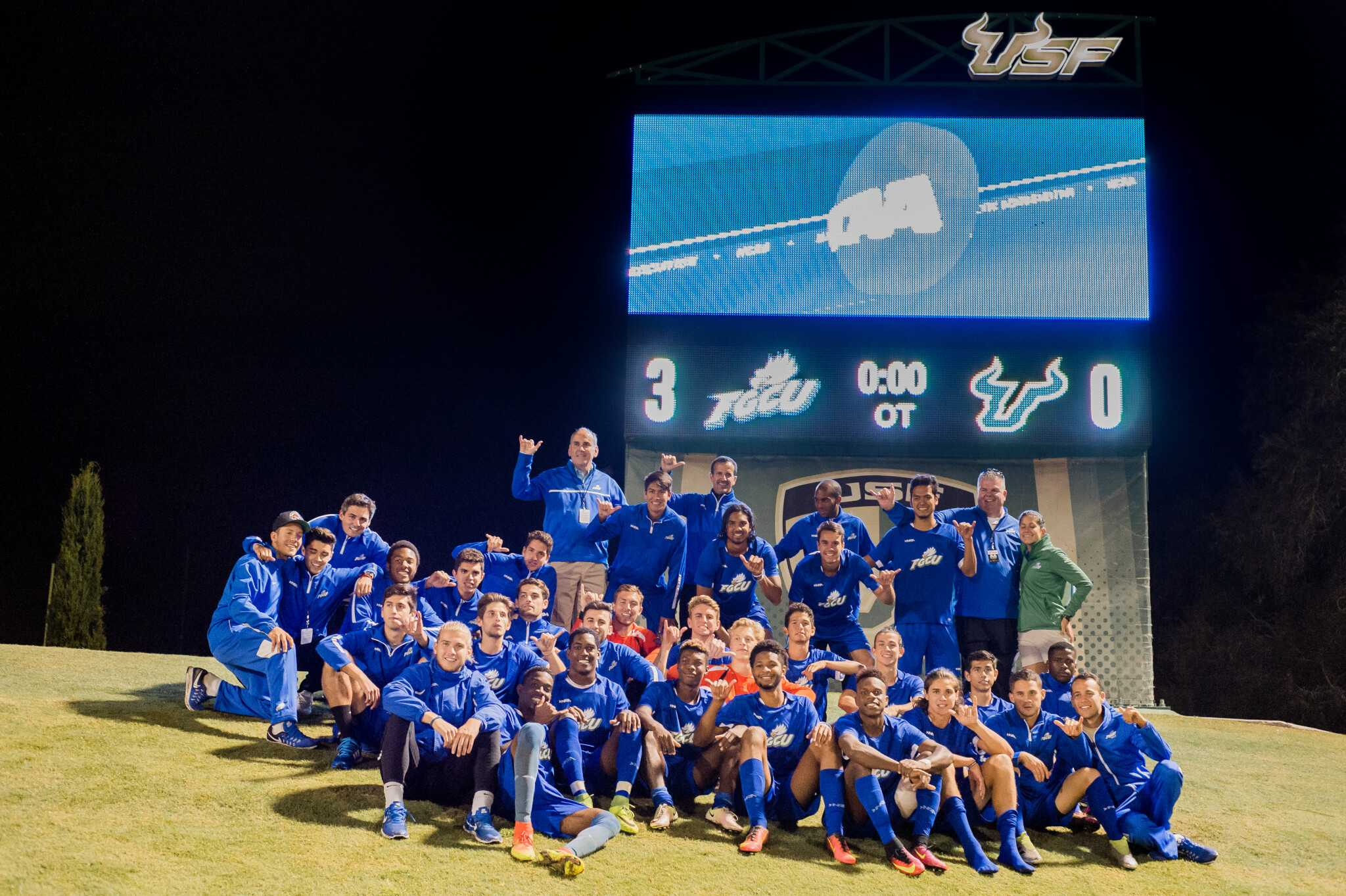 FGCU men's soccer coaching staff selected as Southeast Region Staff of the Year