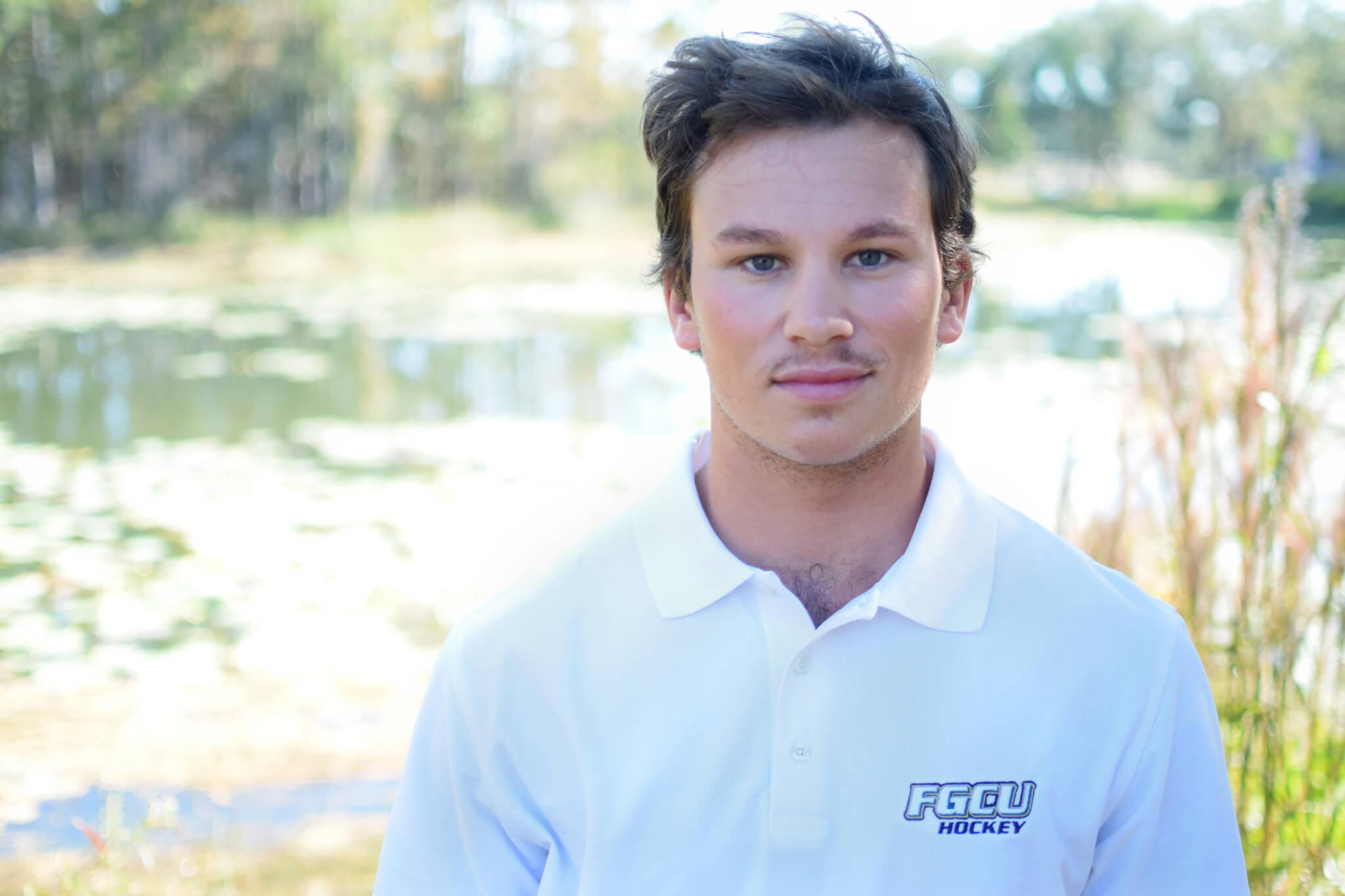 FGCU DII hockey senior has goals on and off the ice