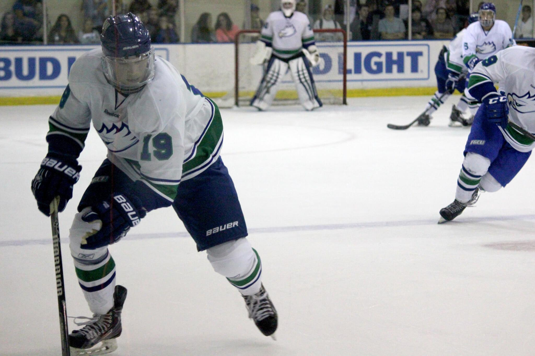 Eagles DII hockey unbeaten streak snapped during weekend road trip