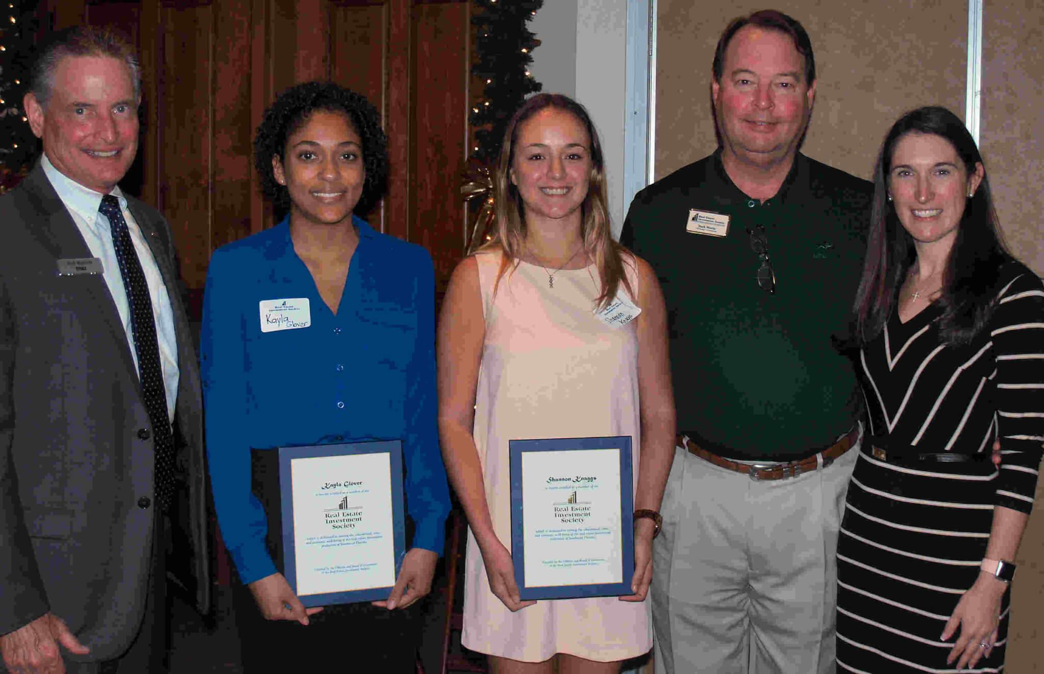 FGCU students receive real estate scholarships