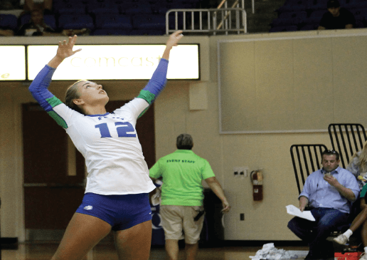First sand volleyball recruit finding playing time on indoor squad