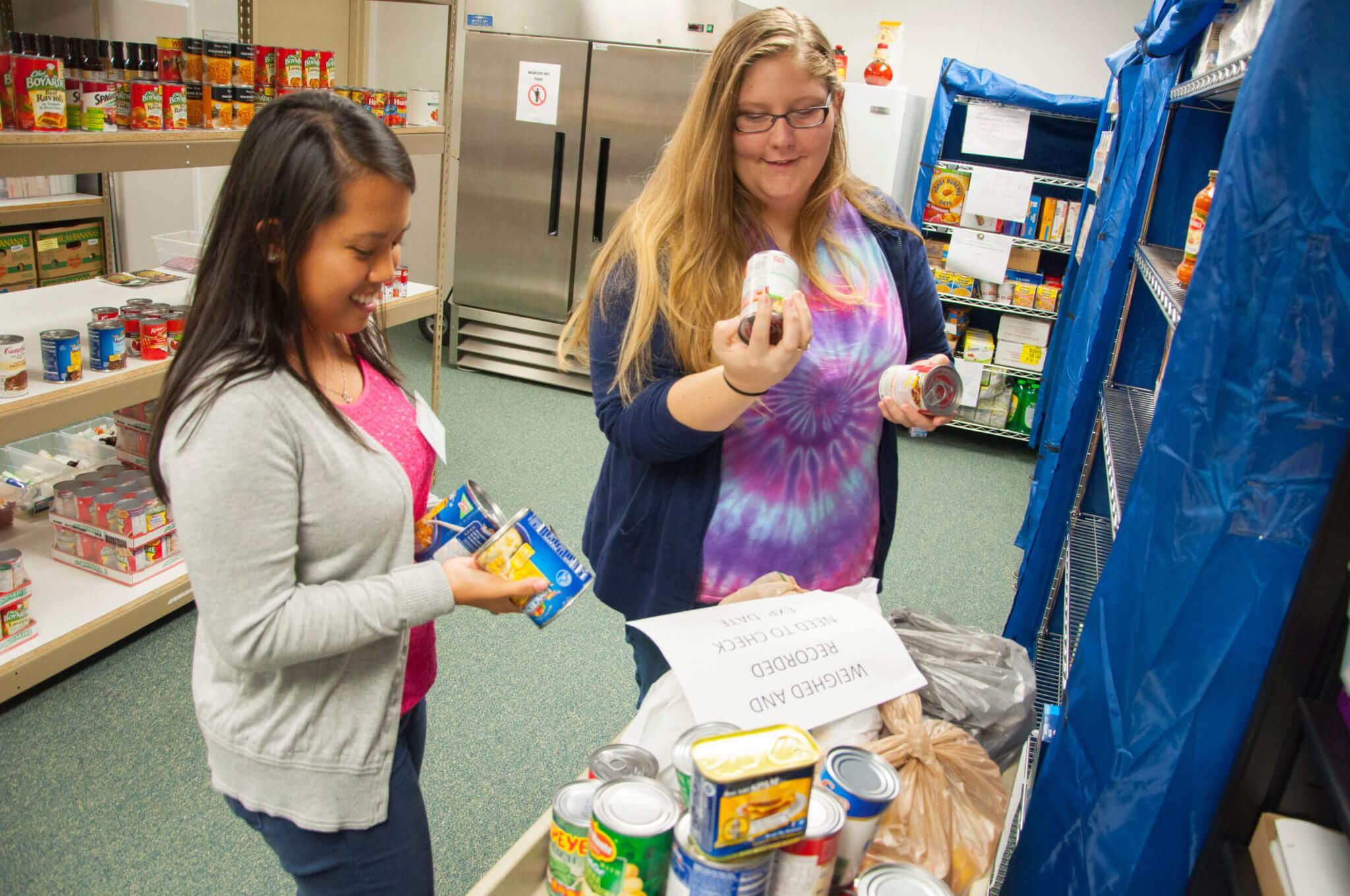 Feeding those in need: Students volunteer at the Campus Food Pantry