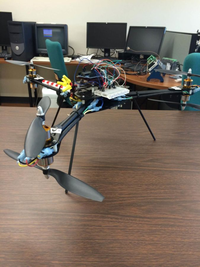 Engineering students build drone  to perform experiments