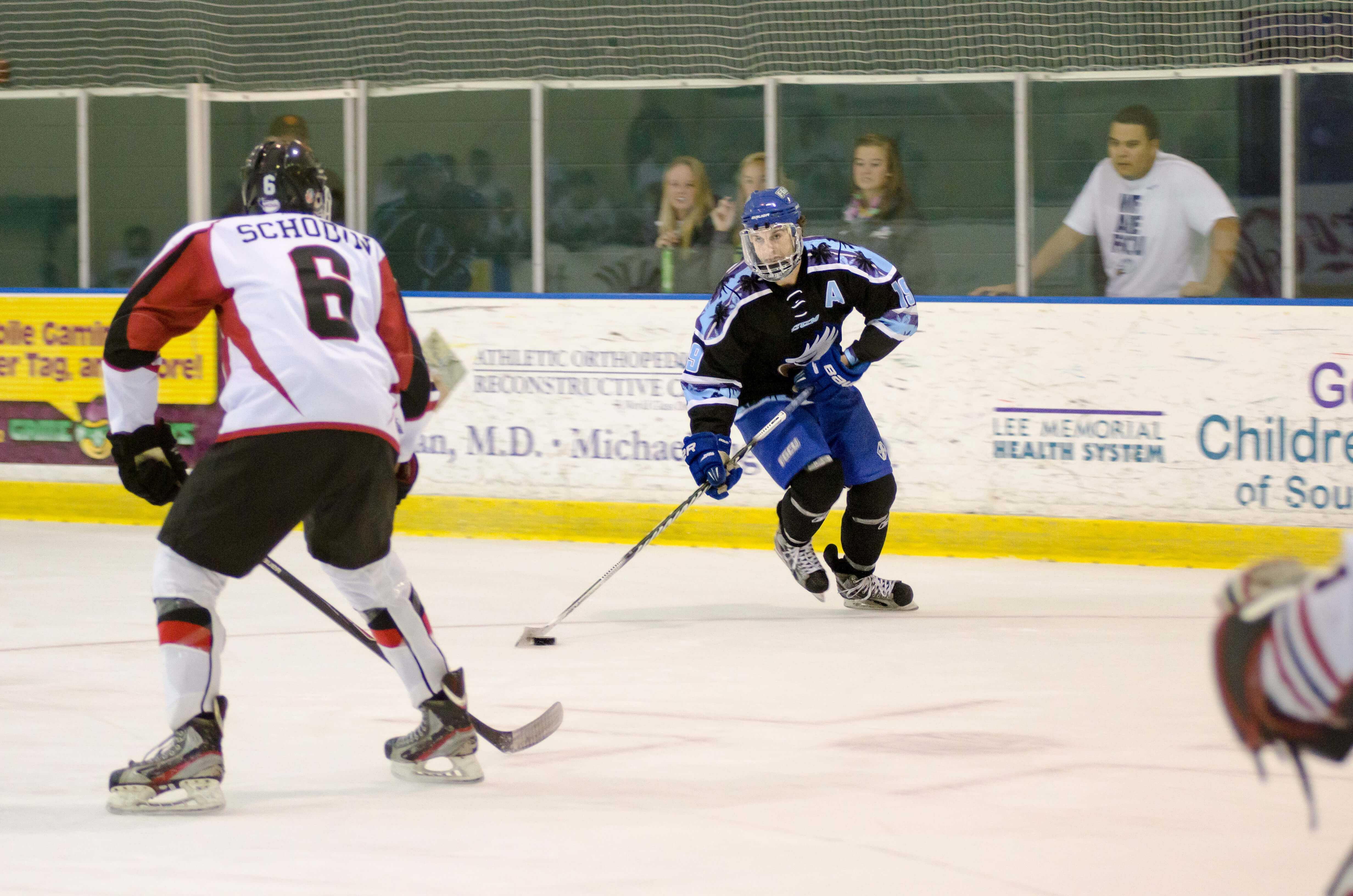 Grad student Nick Houser is making big plays  for the Eagles in the 2014-15 season