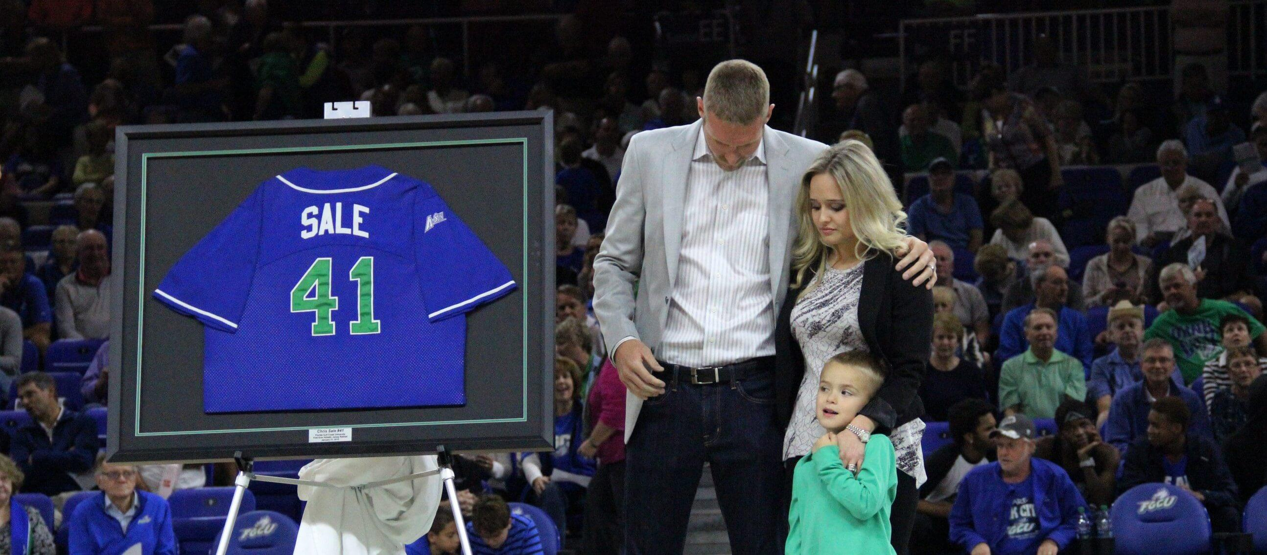 Chris Sale is first FGCU athlete  to have jersey number retired