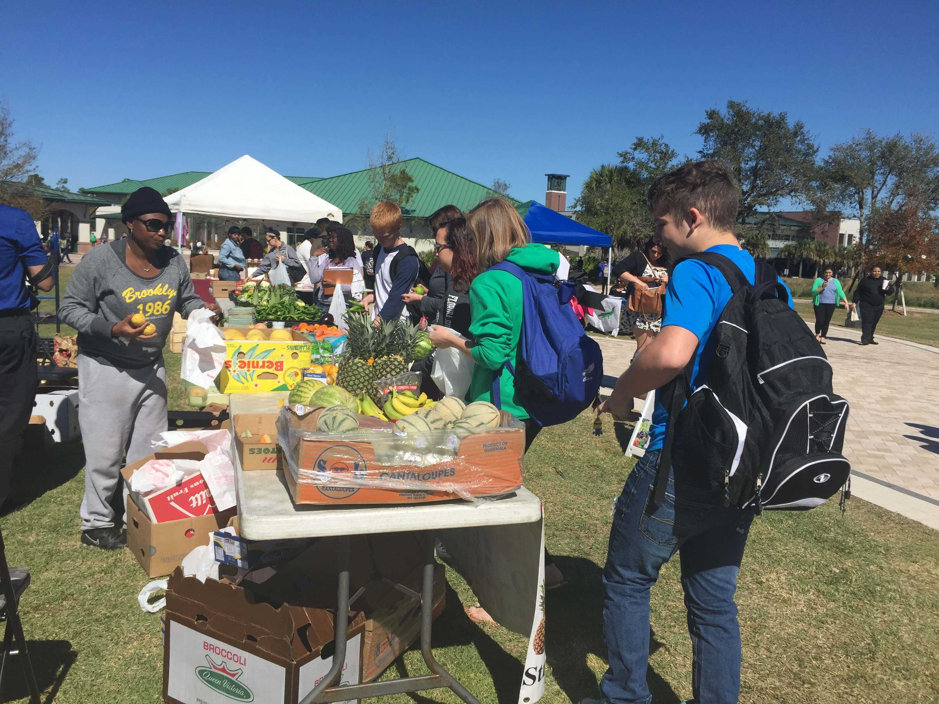 Students get farm-fresh food