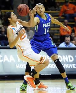 Whitney Knight reaches for the ball during last year's NCAA first round game against Oklahoma State.