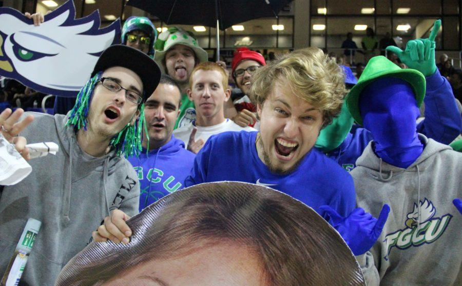 Dirty Birds rally during a women's basketball home game. (EN Photo / Kelli Krebs)