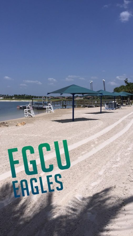 The+new+snapchat+geofilter+for+FGCU+can+be+used+throughout+campus+including+the+FGCU+waterfront.+%28EN+Photo+%2F+Kelli+Krebs%29