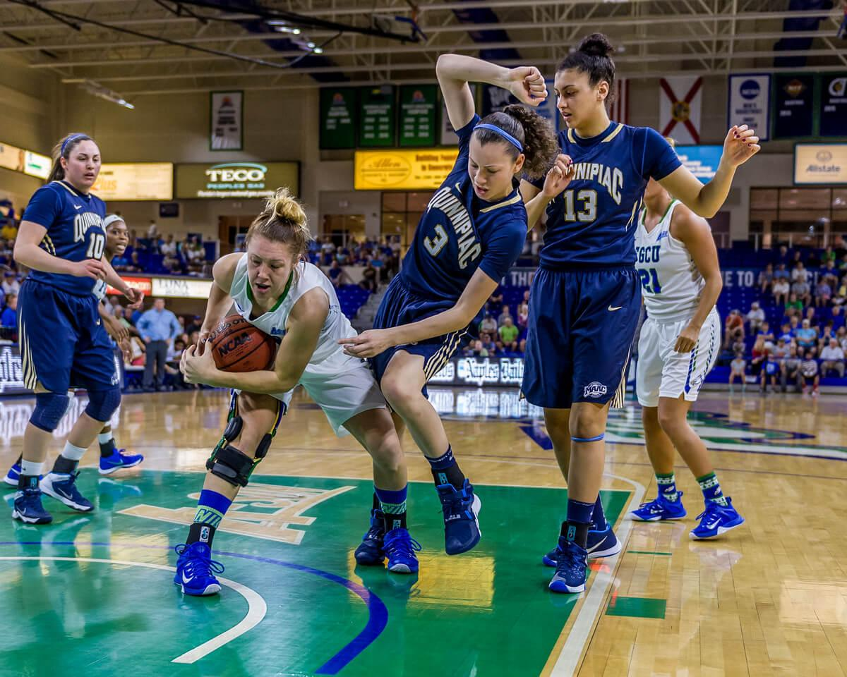 FGCU goes the extra mile for a victory over Quinnipiac