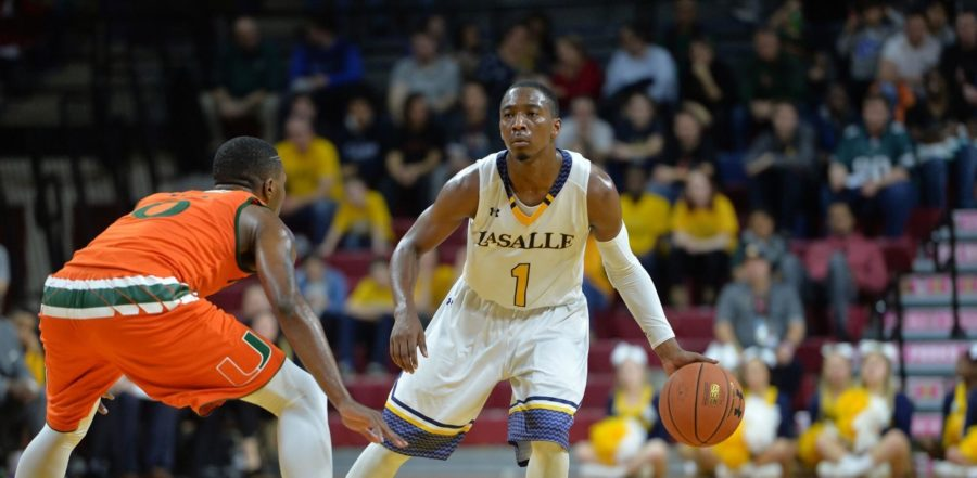 La Salle stand-out Johnnie Shuler handles the ball against UM opponent in recent match up. Photo special to Eagle News.