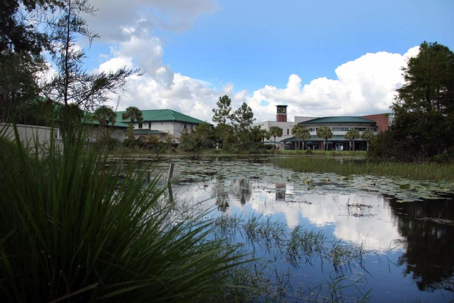 The+Cohen+Center+can+be+seen+from+across+one+of+FGCU+campus+many+ponds.+%28EN+photo+%2F+Kelli+Krebs%29