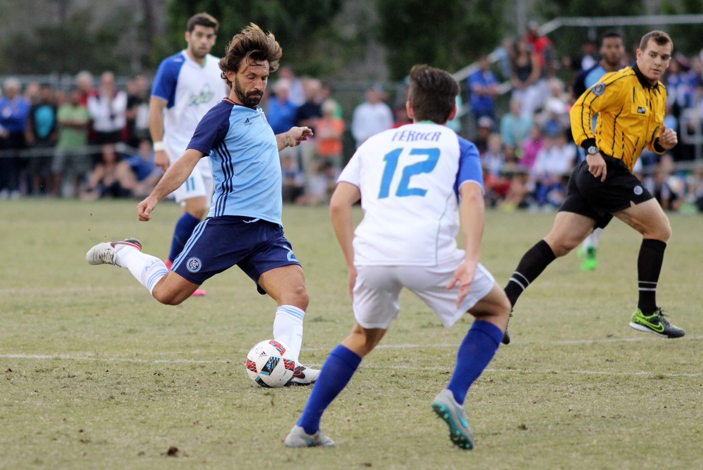 NYCFC takes on FGCU men's soccer team in front of record sellout crowd
