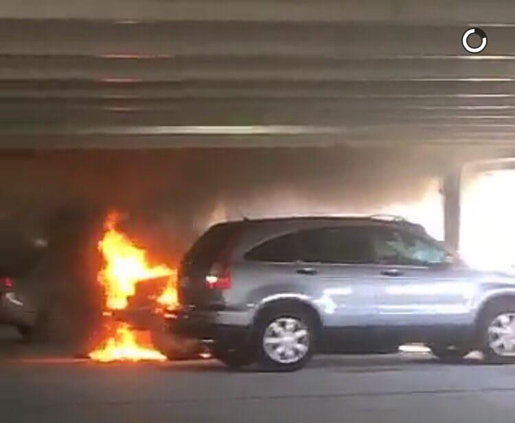 Vehicle fire breaks out in FGCU parking garage 4