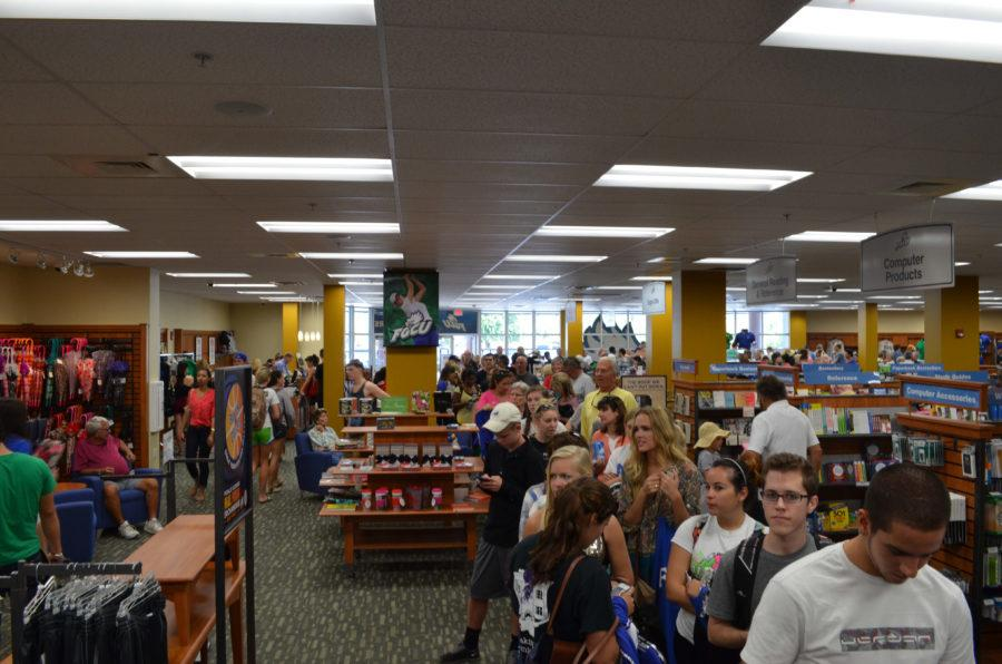 The FGCU bookstore sold $62,000 in men's clothing on Monday alone. (EN Photo/ Joel Morris)