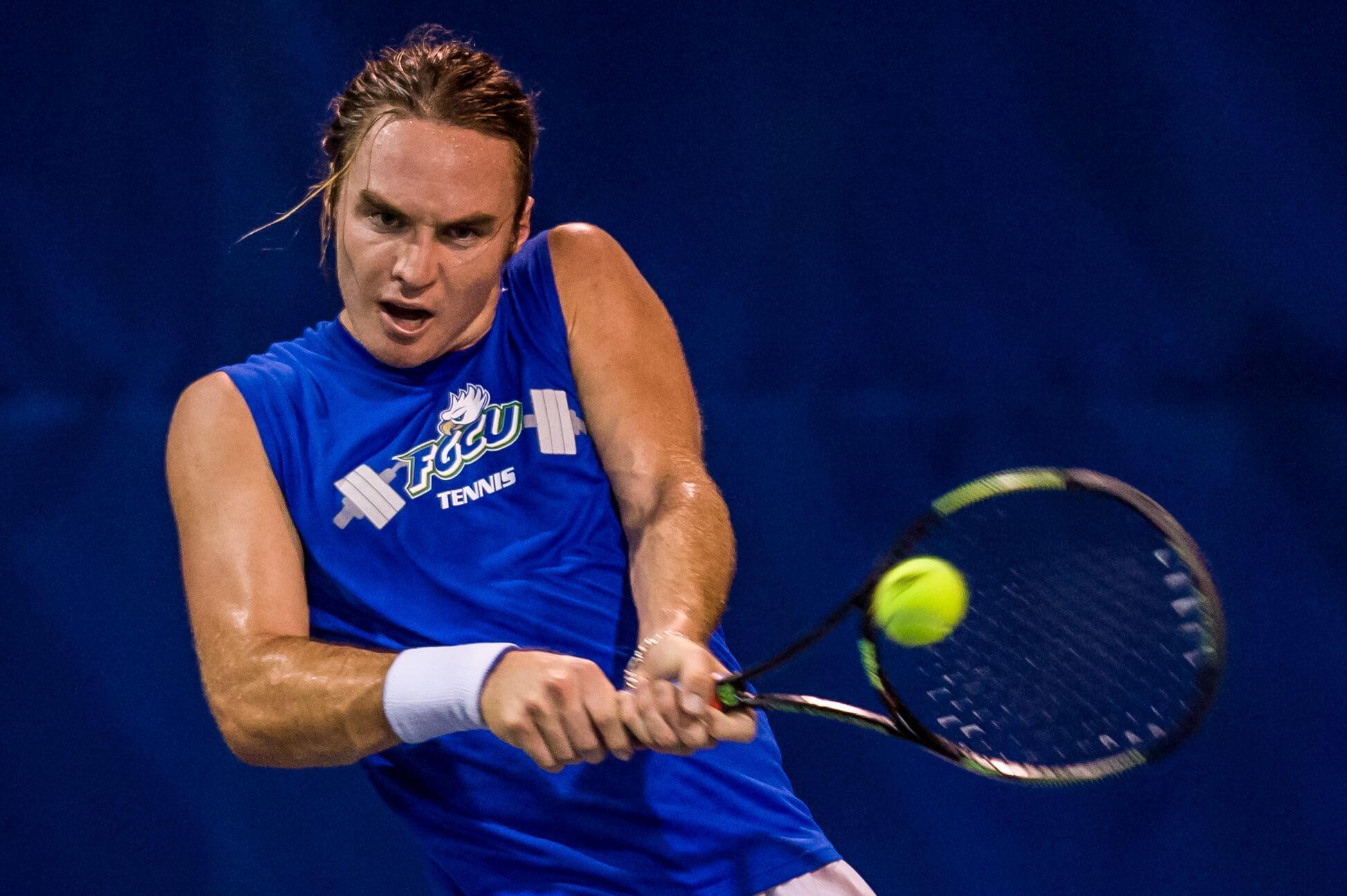 FGCU men's tennis splits in Statesboro