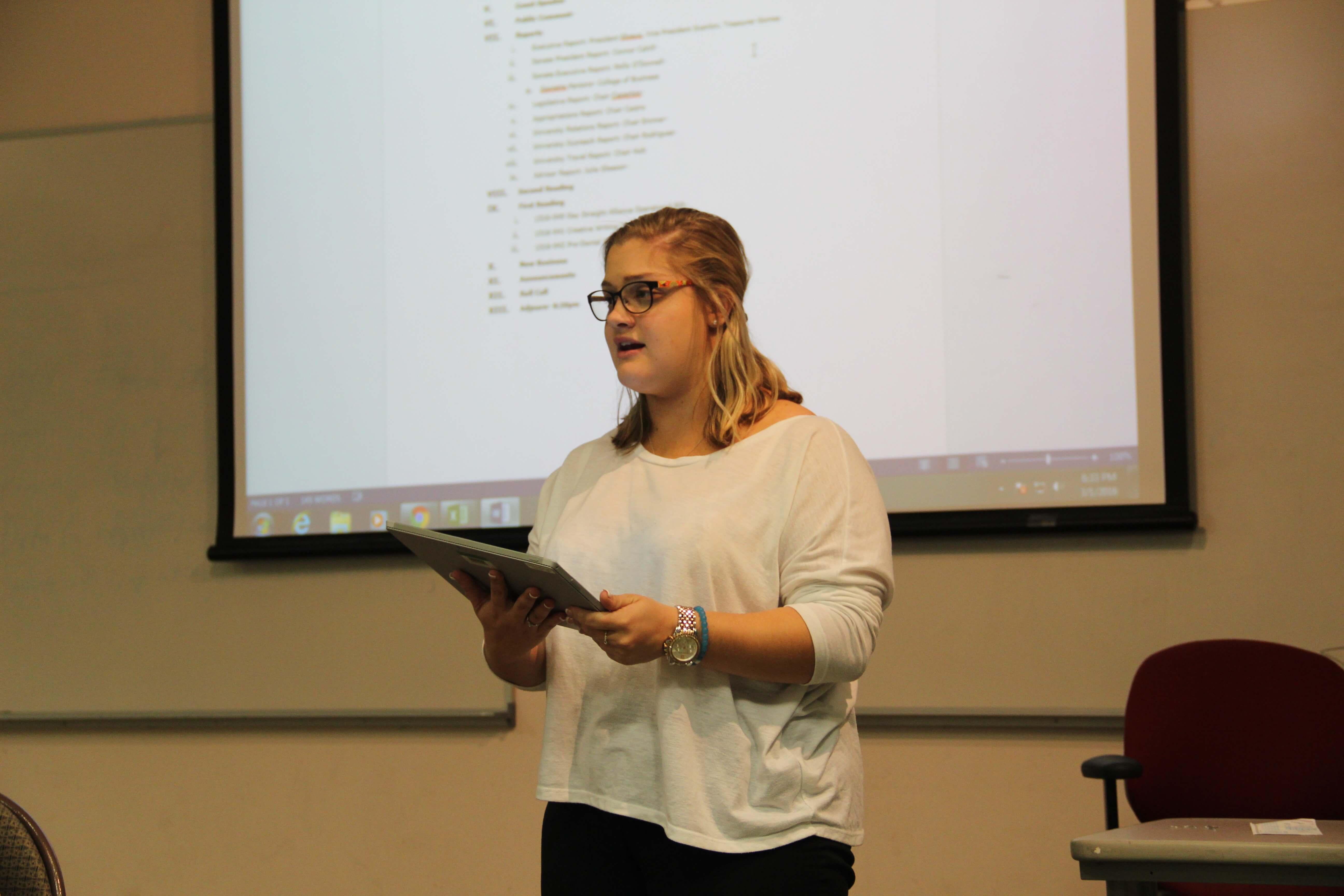 Student Government Senate reviews three bills amid several missing members