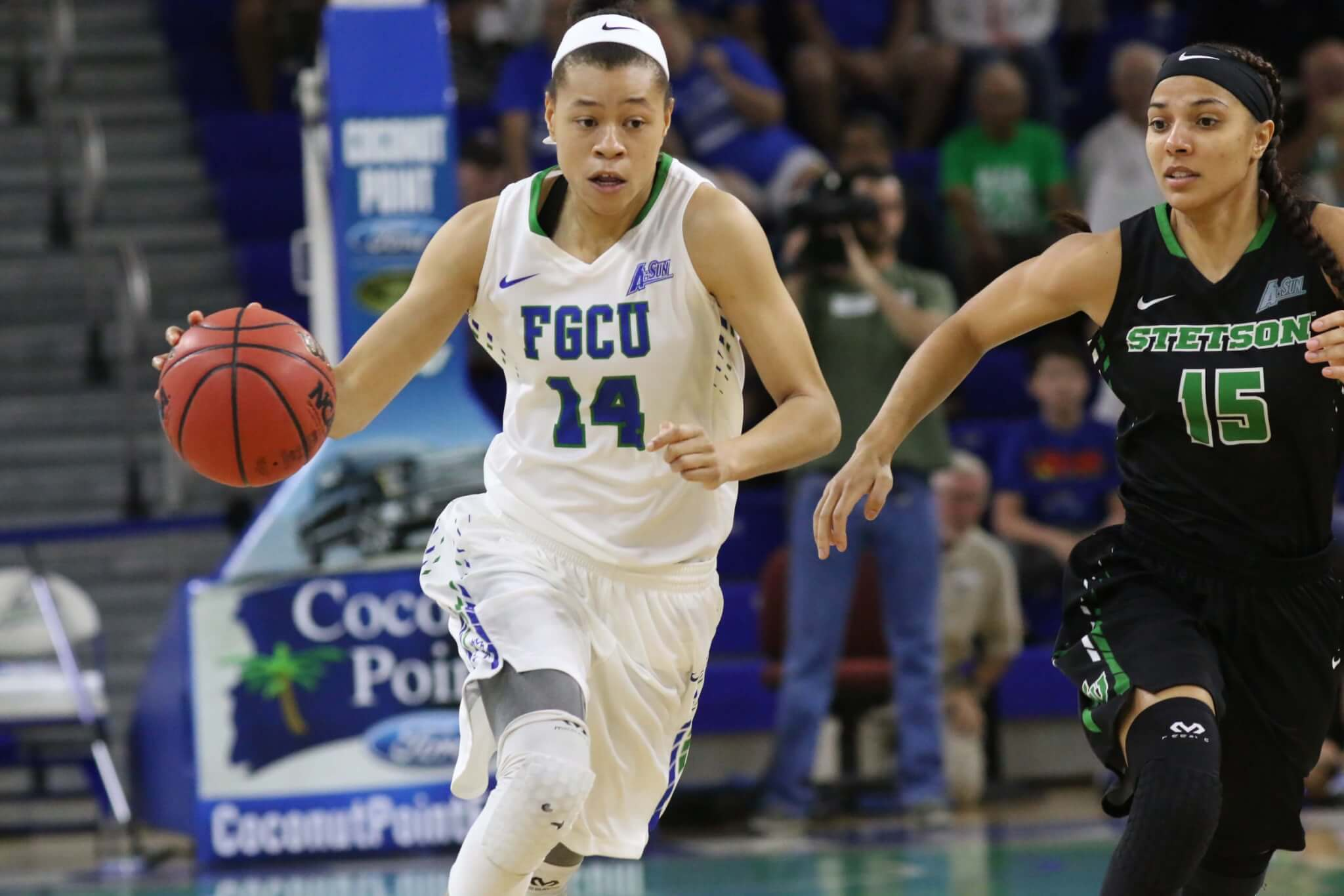 Whitney Knight just fine after injury scare in A-Sun semifinal