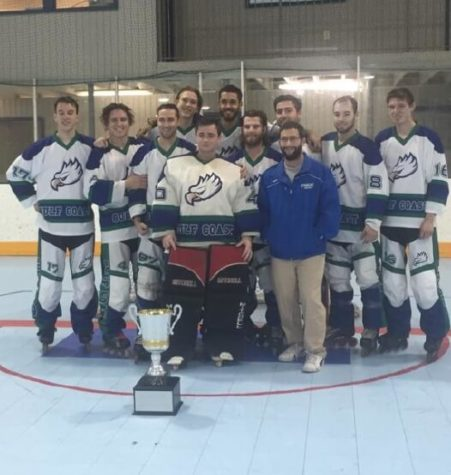 FGCU D-III Roller Hockey team poses for a photo after winning Regionals in Georgia on Feb. 22 2015. (Photo special to Eagle News)