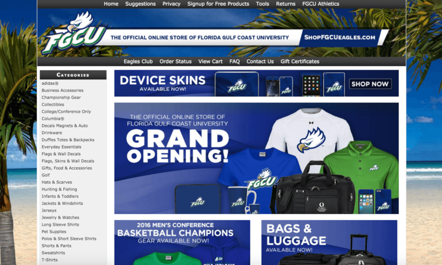 The+online+store%2C+www.shopFGCUeagles.com+is+an+extension+of+the+campus+bookstore.+It+was+launched+Friday%2C+April+8.