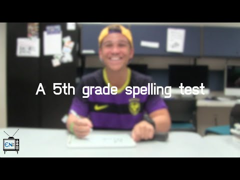 Eagle News Does: 5th Grade Spelling Test
