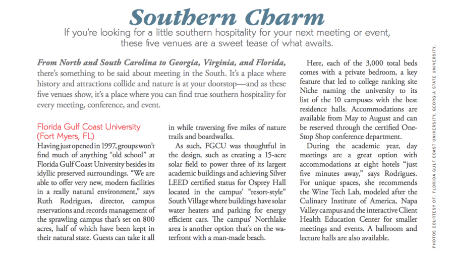 FGCU+featured+in+the+spring+2016+issue+of+%E2%80%9CUnique+Venues%E2%80%9D