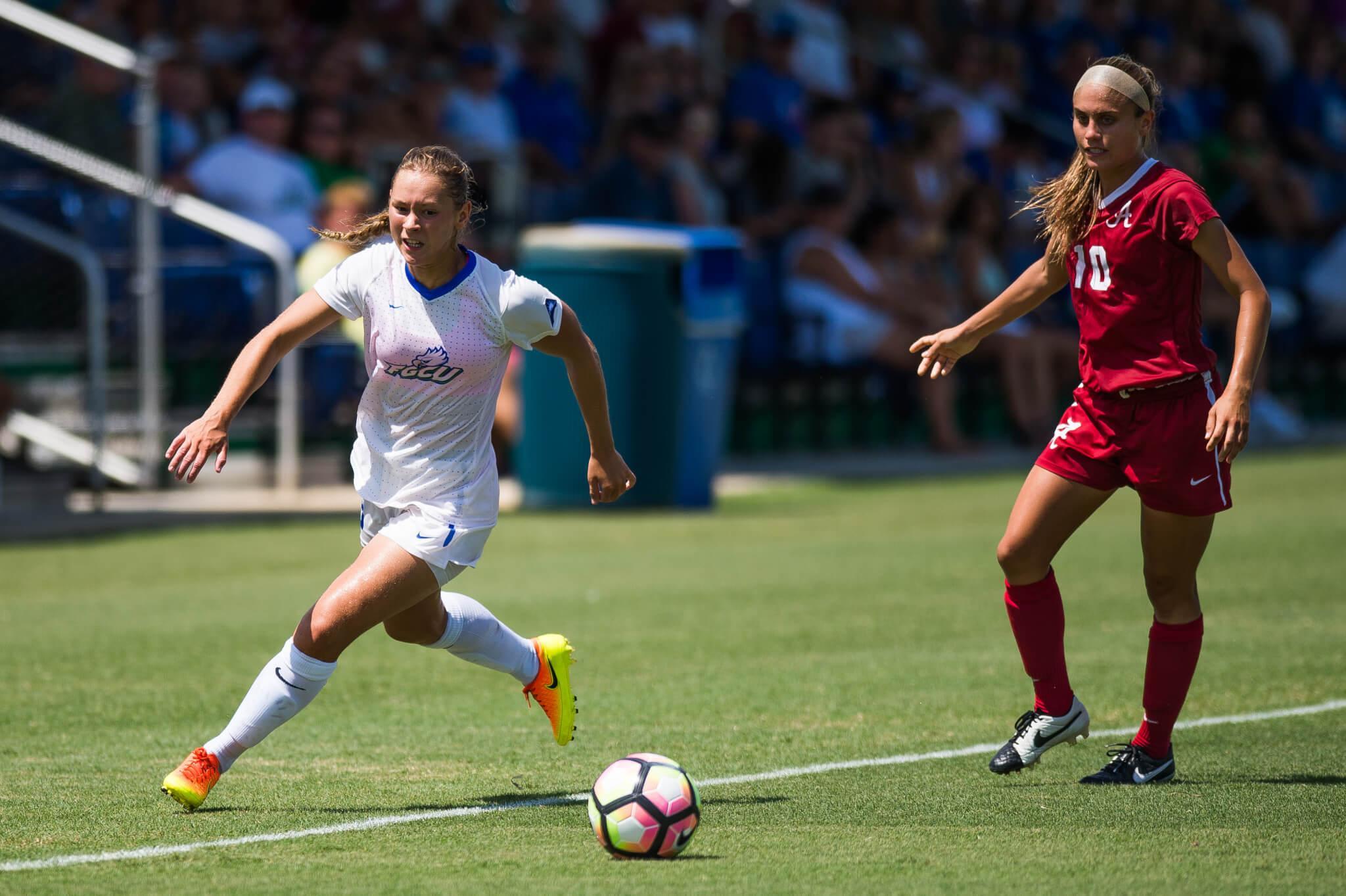 FGCU women's soccer team falls to SEC heavyweight Alabama 1-0
