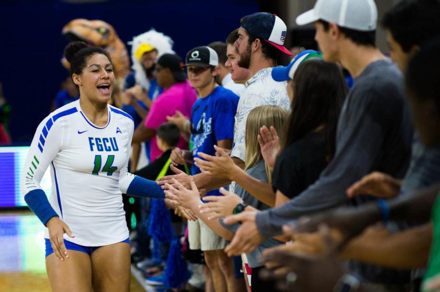 FGCU+volleyball+vs+FIU