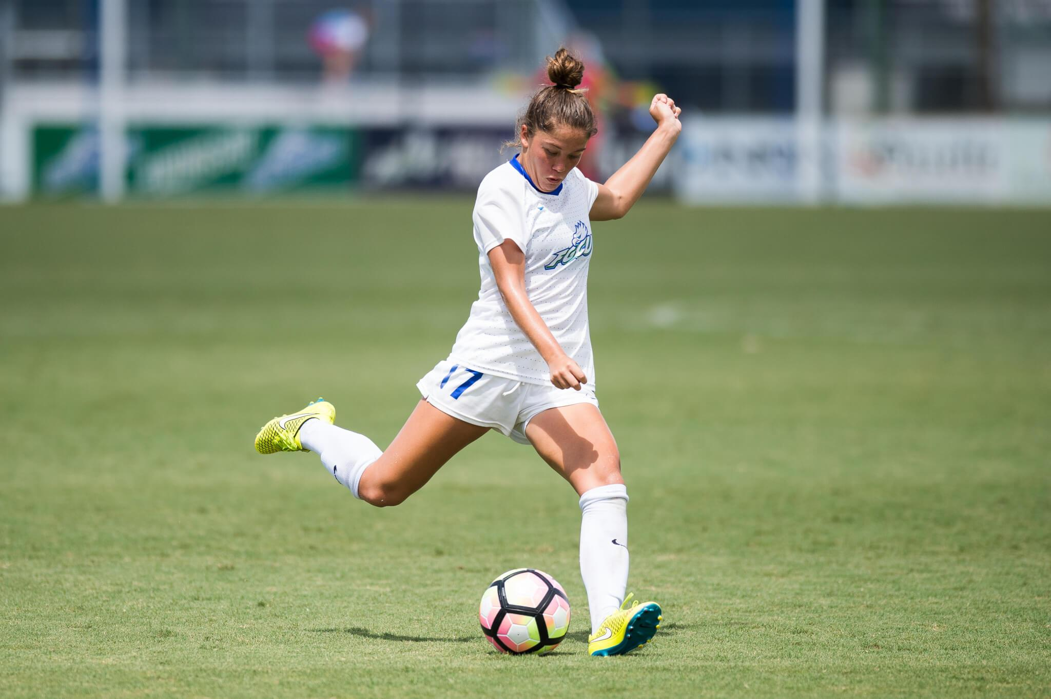 FGCU women's soccer ends non-conference play with 7-1 win over Fairleigh Dickinson