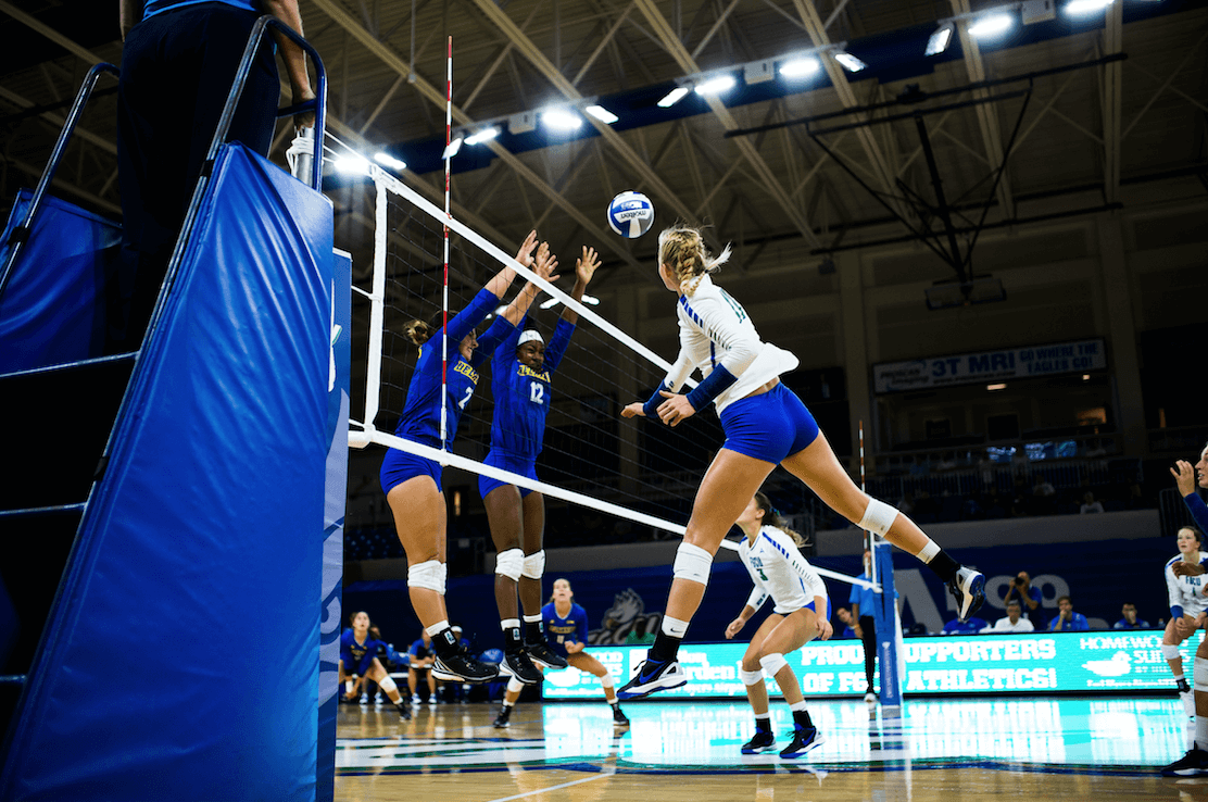 FGCU volleyball defeats Delaware in three sets at home opener