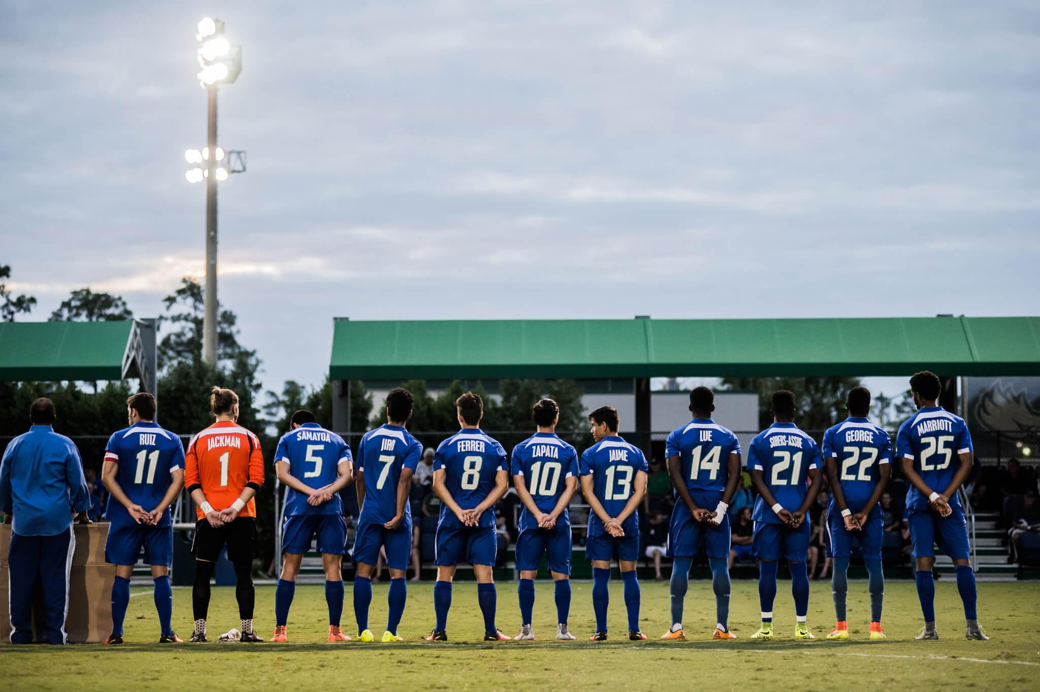 No.11 FGCU men's soccer loses 11-game win streak after 3-2 loss to UNF