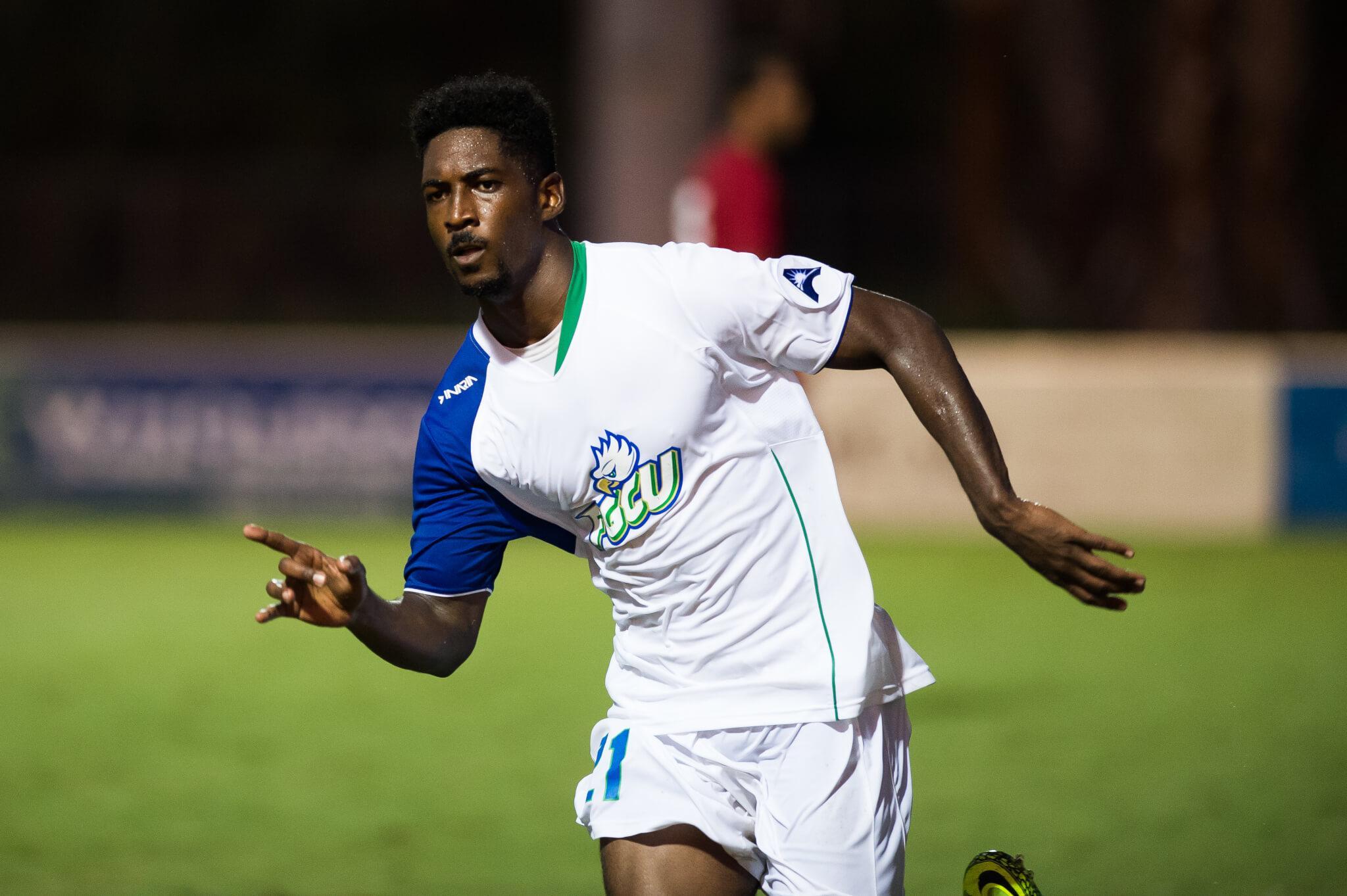 FGCU men's soccer forward, Arion Sobers-Assue, comes back stronger as redshirt sophomore