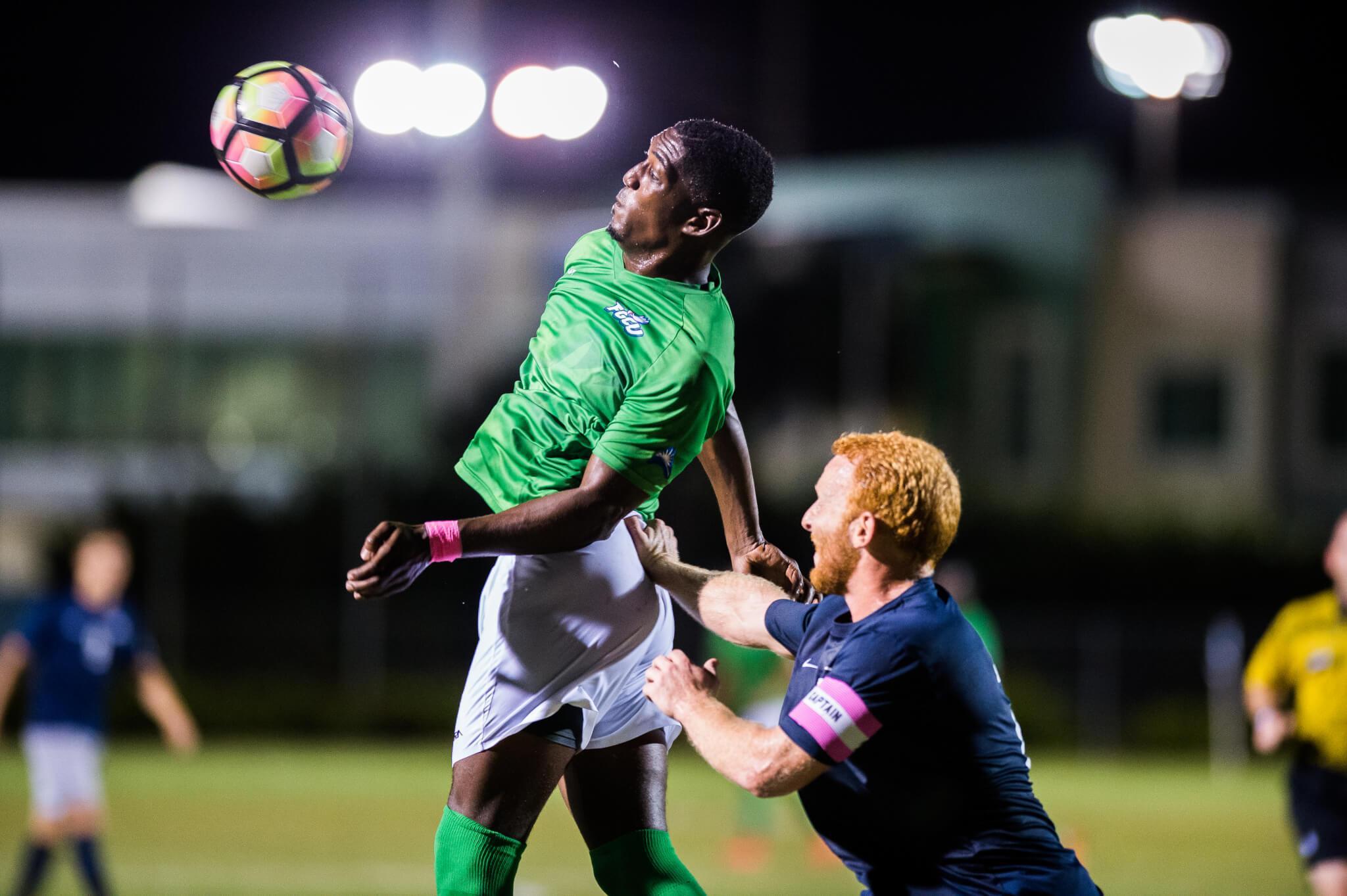 No. 20 men's soccer comes back for 2-1 victory over Jacksonville