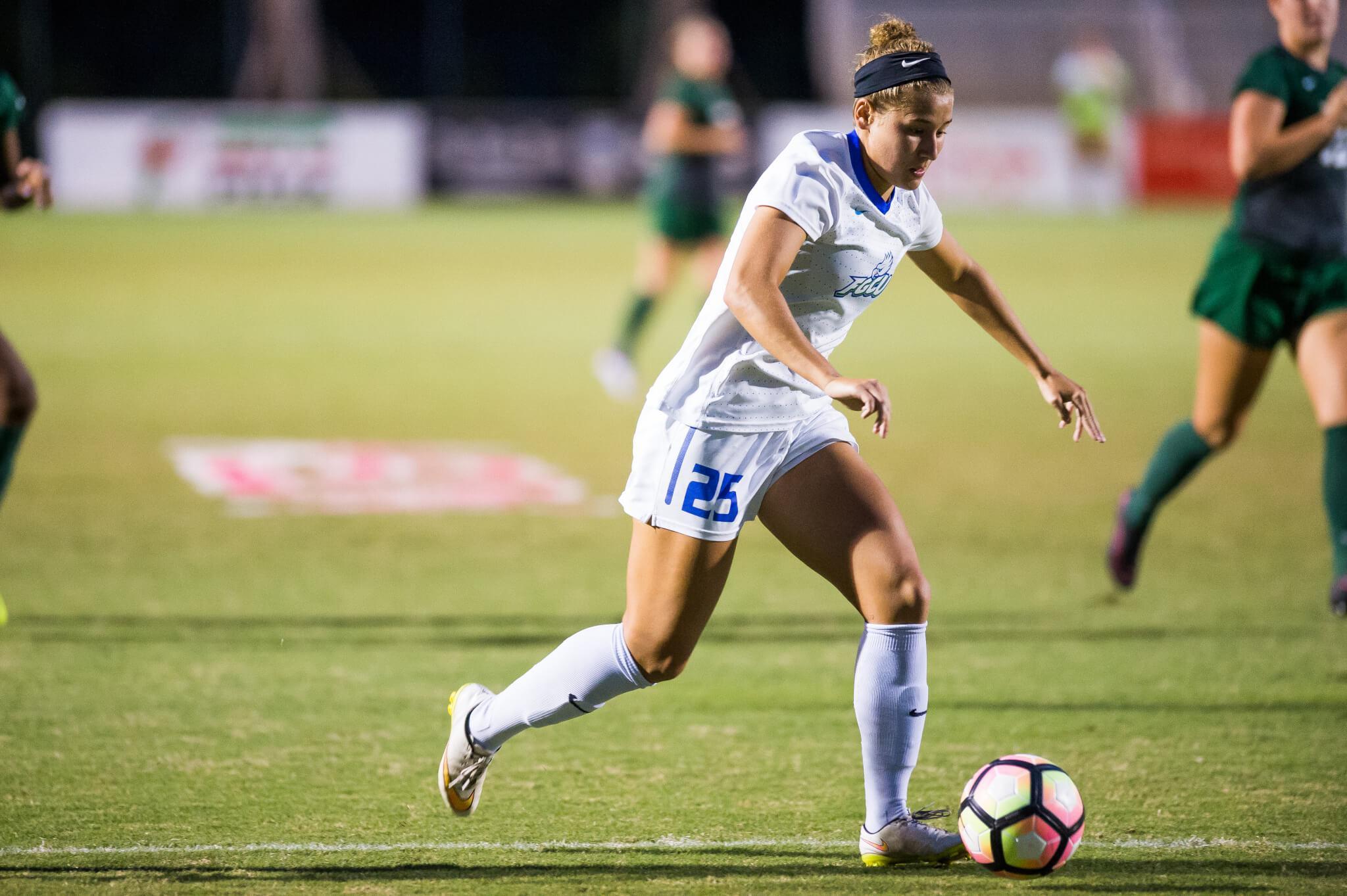 FGCU women's soccer defeats Jacksonville 2-0 on senior night
