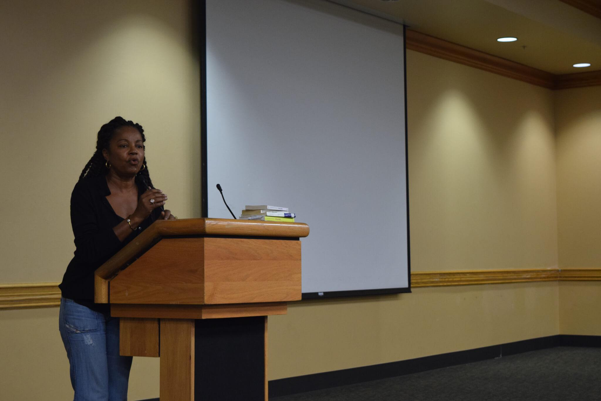 Award winning French author speaks at Cohen