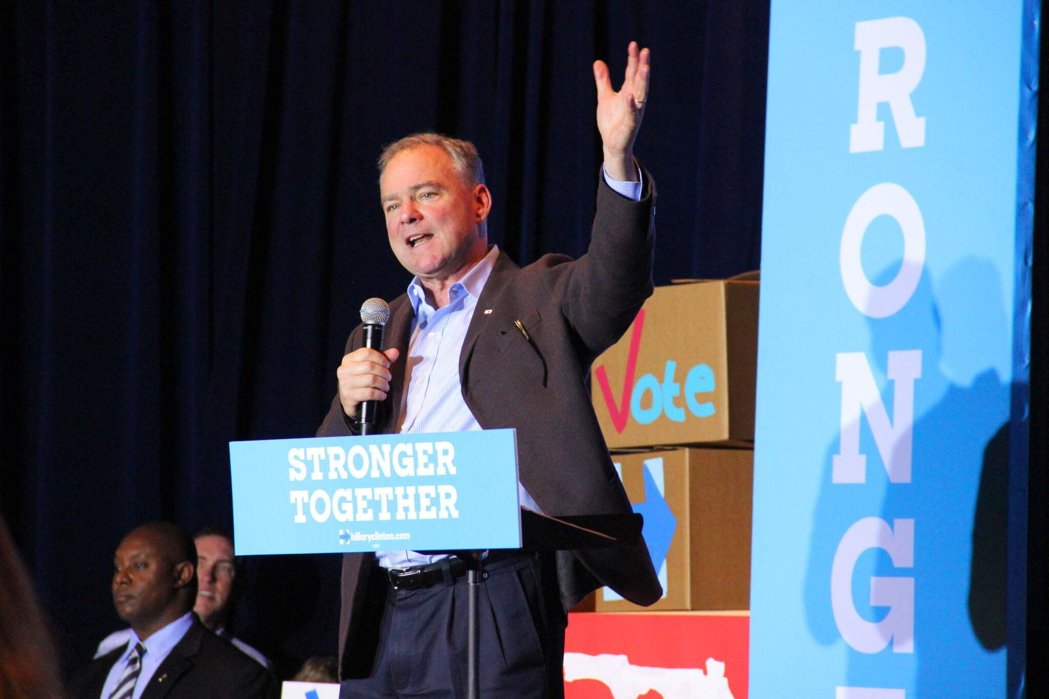Democratic VP candidate Tim Kaine campaigns at FSW