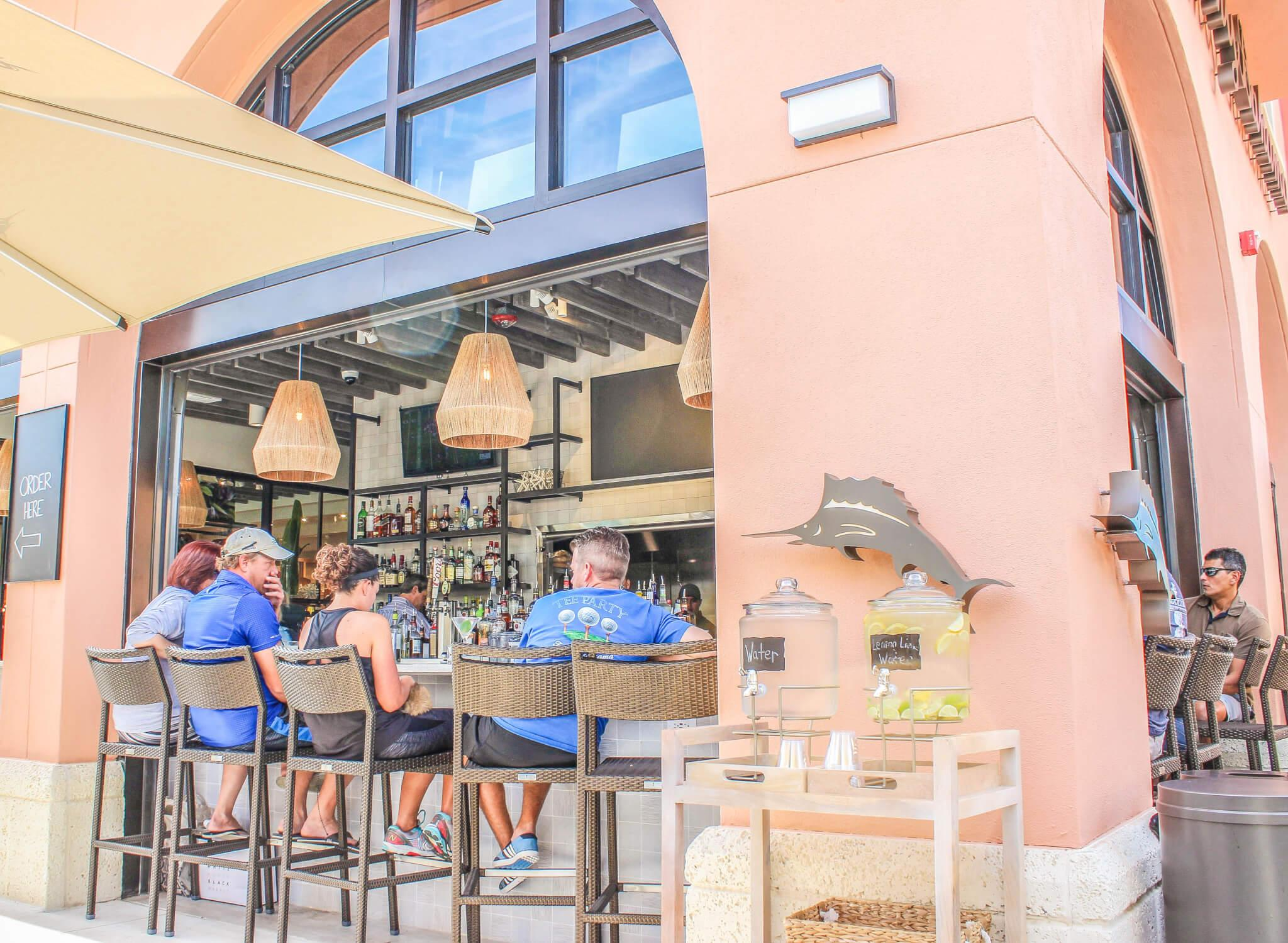 The Marlin Bar blends casual dining with Tommy Bahama retail store