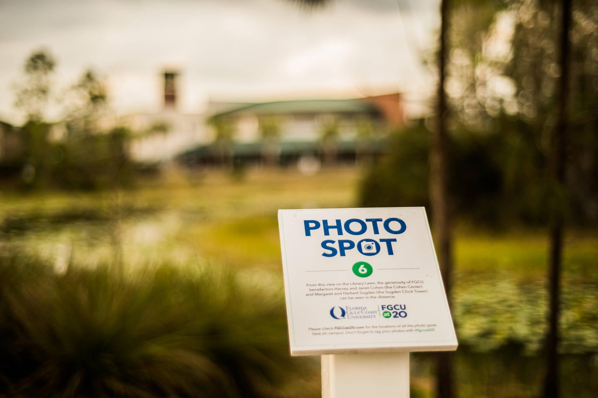 Photo stations appear on campus  in honor of 20th anniversary