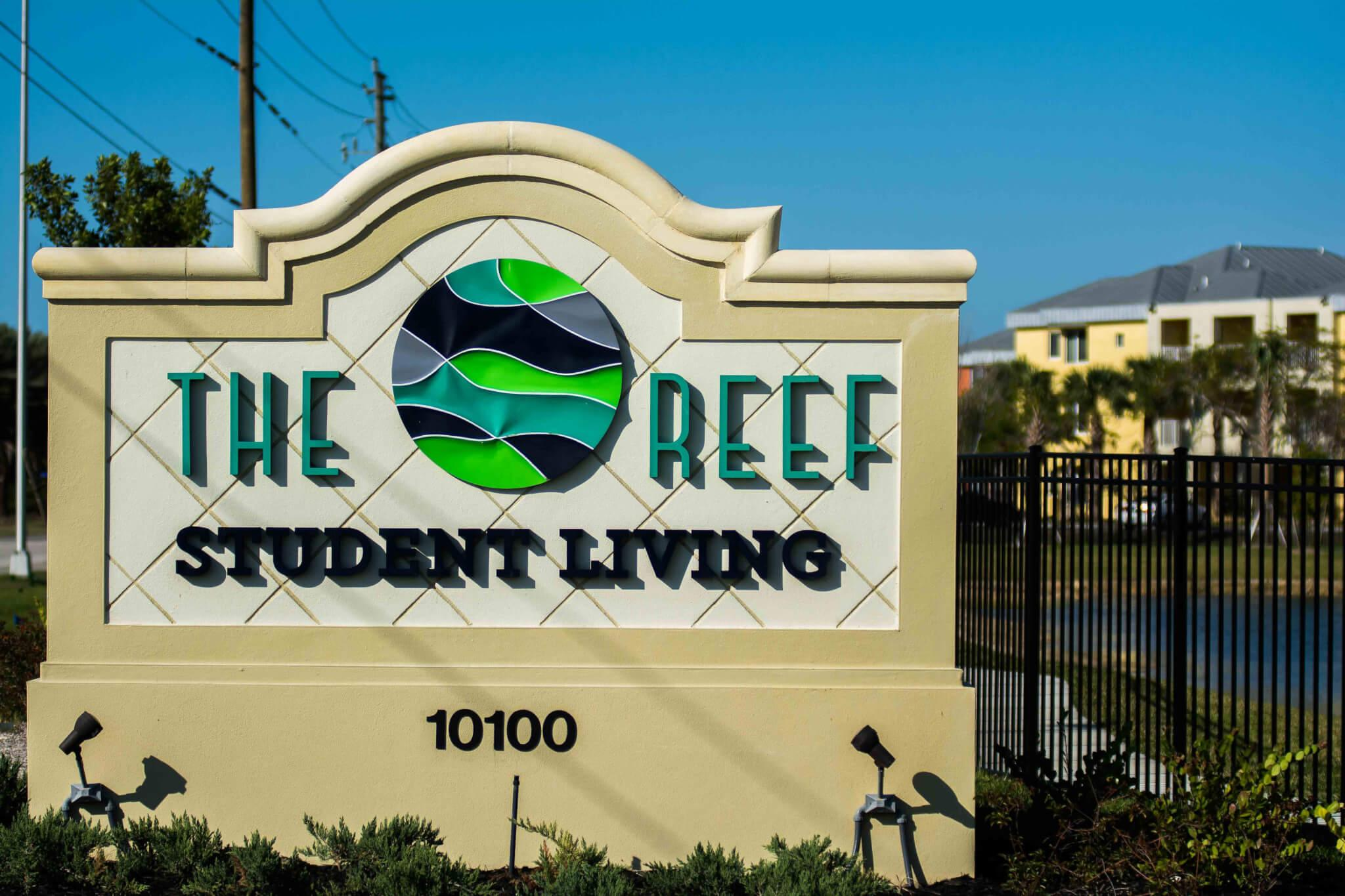 The Reef entrance sign. (EN Photo / Brad Young)