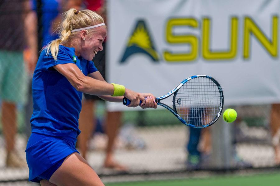 womens tennis loses ASUN
