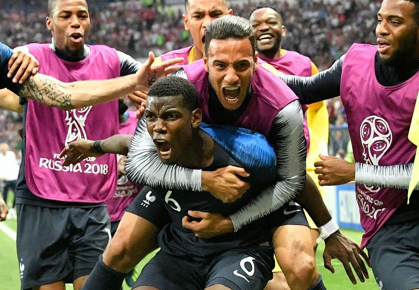 Photo+courtesy+of+Associated+Press+%2F%2F+France+celebrates+after+Paul+Pogba+scored+in+the+second+half.