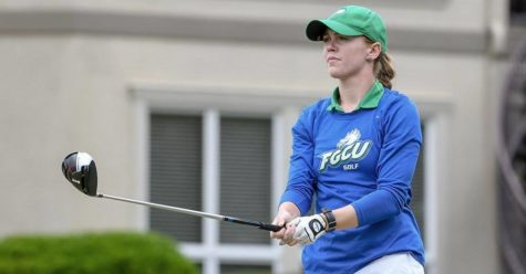 PHOTO COURTESY OF FGCU ATHLETICS: Madeline Marck-Sherk ties for 2nd place at the 2018 ASUN Championship.