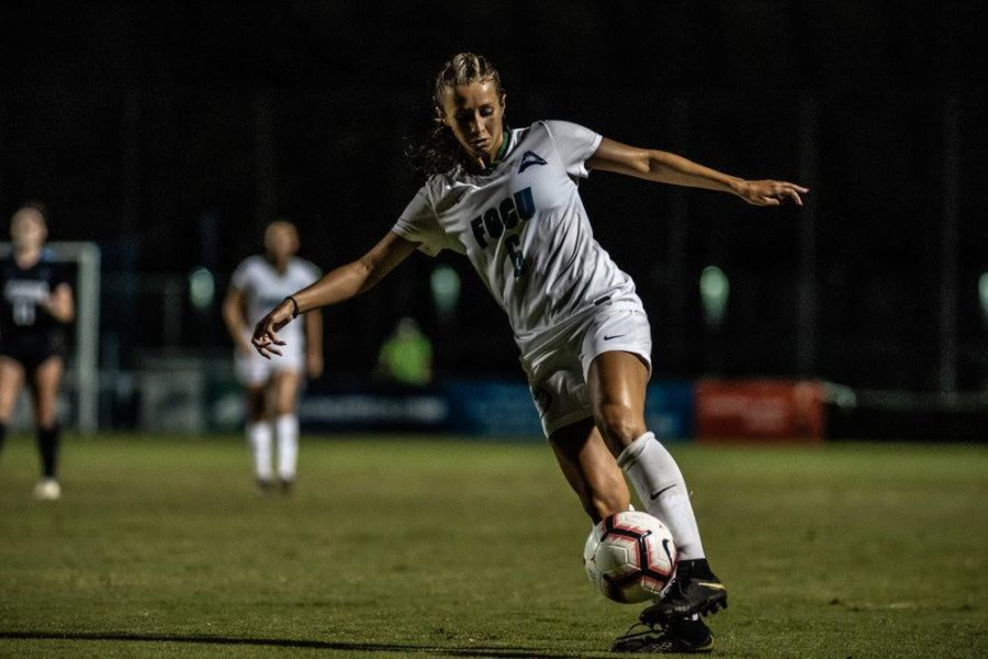 EN File Photo // Sophomore Cassidy Morgan kicks the ball during a game against Georgia Southern earlier in the season.