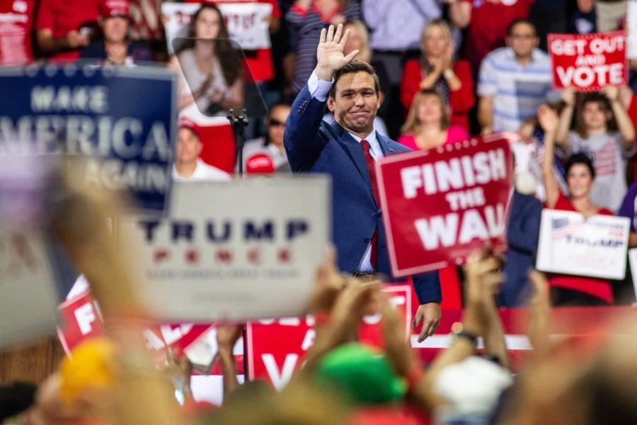 EN+Photo+by+Bret+Munson+%2F%2F+Florida+governor-elect+Ron+DeSantis+waves+to+the+crowd+at+a+rally+in+Fort+Myers+leading+up+to+the+election.