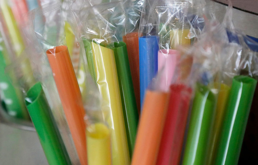 FILE+-+This+July+17%2C+2018+file+photo+shows+wrapped+plastic+straws+at+a+bubble+tea+cafe+in+San+Francisco.+The+Oregon+Legislature+will+consider+a+statewide+tax+on+plastic+bags+and+a+ban+on+plastic+straws.+%28AP+Photo%2FJeff+Chiu%2C+File%29
