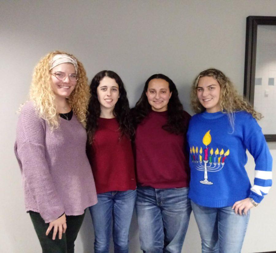 EN Photo by Trinia Oliver // From left: Tymber Wolf, Blake Chassin, Cayla Schreier, Lana Schreier.