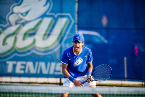 EN Stock Photo // In their first outing of the season, mens tennis impressed as freshman Guglielmo Stefanacci played well in both singles and doubles action.