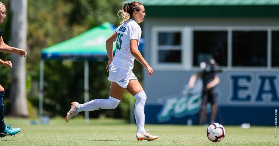 Photo+Provided+by+FGCU+Athletics+%2F%2F+Marjorie+Boilesen+gave+the+Eagles+their+lone+score+as+they+tied+1-1+with+Lipscomb+on+the+road.+