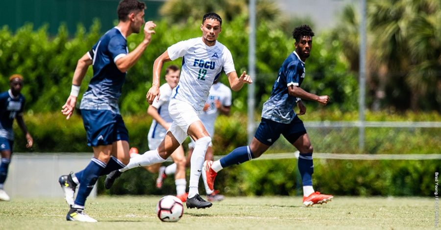Photo Provided by FGCU Athletics // Ryan Medilah provided the offense for the Eagles, tallying the most shots in the losing effort to Cal St. Fullerton.